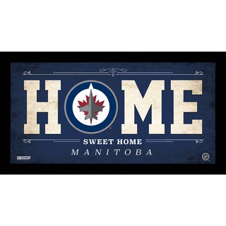 Winnipeg Jets 10x20 Home Sweet Home Sign
