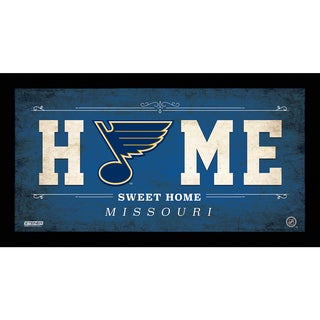 Saint Louis Blues 6x12 Home Sweet Home Sign