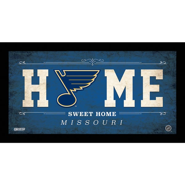 Saint Louis Blues 6x12 Home Sweet Home Sign