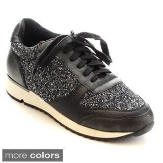MI.IM Jude-04 Women's Glitter Lace Up Slip On Running Shoes