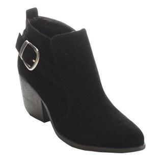 MI.IM Tess-01 Women's Buckled Strap Chunky Heel Dress Booties