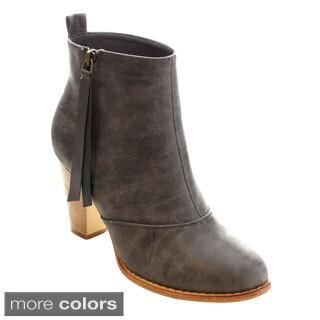 MI.IM Urban-01 Women's Stylish Side Zipper Western Heeled Booties
