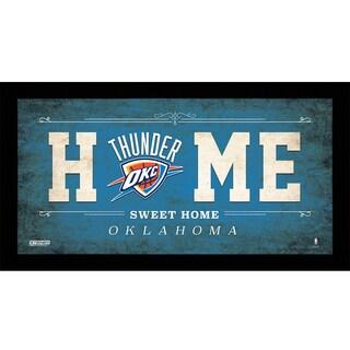 Oklahoma City Thunder 10x20 Home Sweet Home Sign
