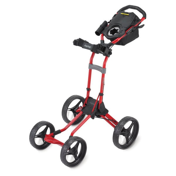 BagBoy Quad Plus 4 Wheel Push Cart - Red
