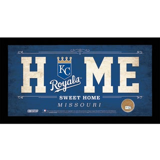 Kansas City Royals 10x20 Home Sweet Home Sign with Game-Used Dirt from Kauffman Stadium