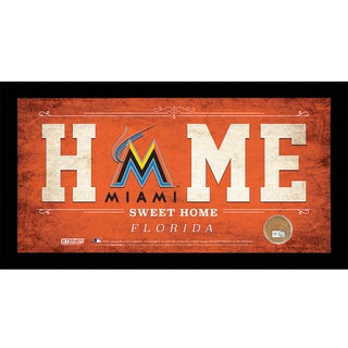Seattle Mariners 10x20 Home Sweet Home Sign with Game-Used Dirt from Safeco Field