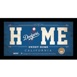 Los Angeles Dodgers 10x20 Home Sweet Home Sign with Game-Used Dirt from Dodger Stadium