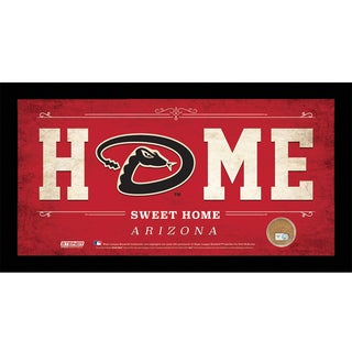 Arizona Diamondbacks 10x20 Home Sweet Home Sign with Game-Used Dirt from Chase Field