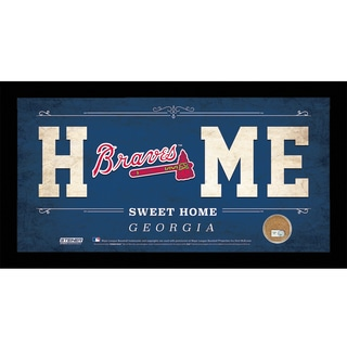 Atlanta Braves 10x20 Home Sweet Home Sign with Game-Used Dirt from Turner Field