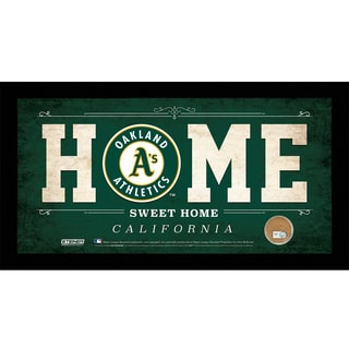 Oakland Athletics 10x20 Home Sweet Home Sign with Game-Used Dirt from O.co Coliseum