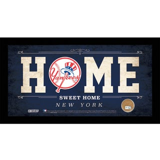 New York Yankees 10x20 Home Sweet Home Sign with Game-Used Dirt from Yankee Stadium