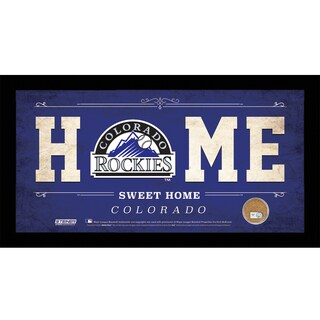Colorado Rockies 10x20 Home Sweet Home Sign with Game-Used Dirt from Coors Field