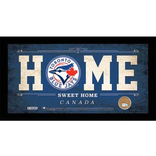 Toronto Blue Jays 10x20 Home Sweet Home Sign with Game-Used Dirt from Rogers Centre