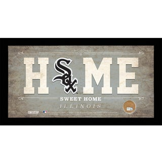 Chicago White Sox 10x20 Home Sweet Home Sign with Game-Used Dirt from U.S. Cellular Field