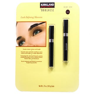 Kirkland Signature by Borghese Lash Defining Mascara Rich Brown (Pack of 2)