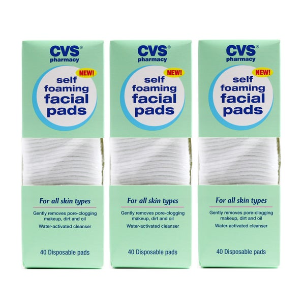 CVS Self Foaming Facial Pads (Pack of 3)