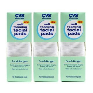 CVS Self Foaming Facial Pads (Pack of 3)