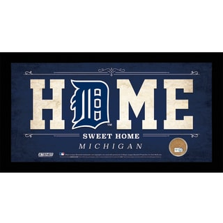 Detroit Tigers 6x12 Home Sweet Home Sign with Game-Used Dirt from Comerica Park