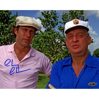 Chevy Chase Signed Standing with Dangerfield 8x10 Photo