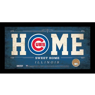 Chicago Cubs 6x12 Home Sweet Home Sign with Game-Used Dirt from Chicago Cubs
