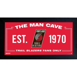 Portland Trailblazers Man Cave Sign 10x20 Framed Photo
