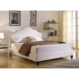 Abbyson Living Sophie Ivory Linen Platform Upholstered Bed