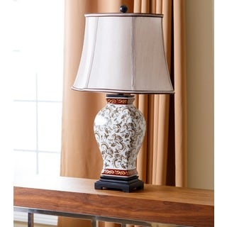 Abbyson Living Hand Painted Asian Table Lamp