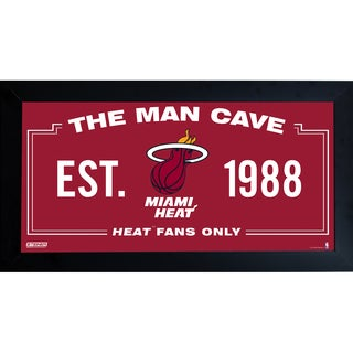 Miami Heat Man Cave Sign 10x20 Framed Photo