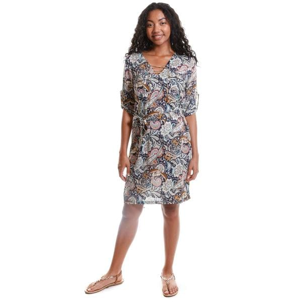 Hadari Women's Paisley Print Dress