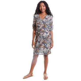Hadari Women's Contemporary Paisley Print Dress