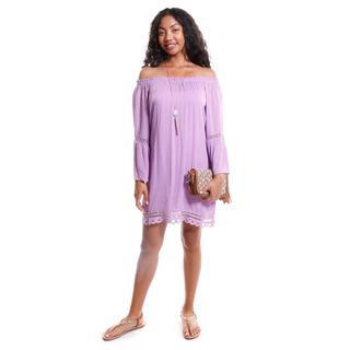 Hadari Women's Contemporary Off-Shoulder Peasant Dress