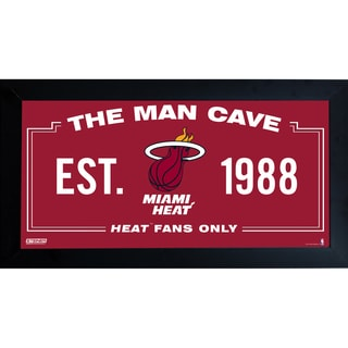 Miami Heat Man Cave Sign 6x12 Framed Photo