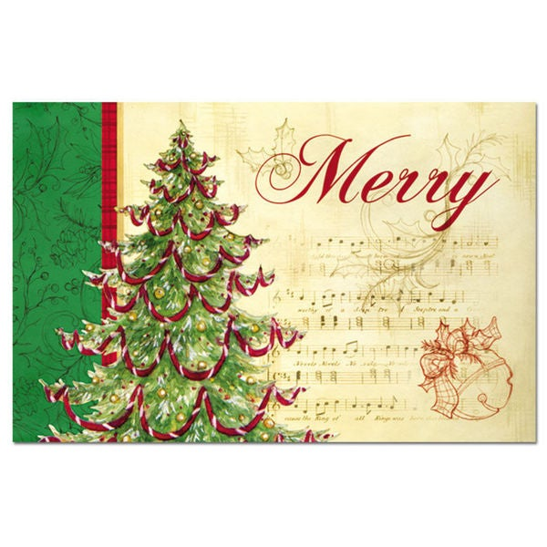 Christmas Tree Paper Placemats (Set of 12)