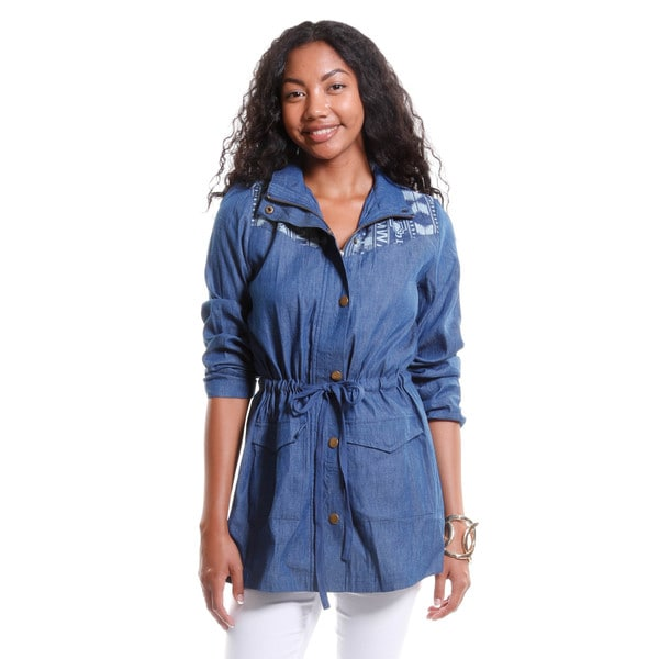 Hadari Women's Embroidered Denim Jacket