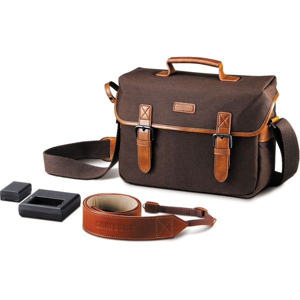 Samsung NX Accessory Kit Bag, Leather Strap, Battery and Charger