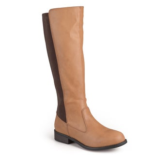 Journee Collection Women's 'Light' Regular and Wide-calf Round Toe Tall Faux Leather Boots