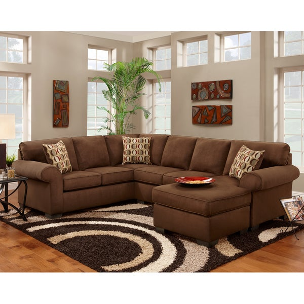 Exceptional Designs Patriot Microfiber U-shaped Sectional