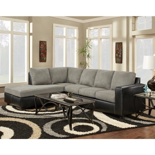 Exceptional Designs Aruba Microfiber L-shaped Sectional