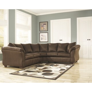 Signature Design by Ashley Darcy Café Fabric Sectional