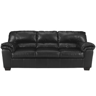 Signature Design by Ashley Commando Black Leather Sofa