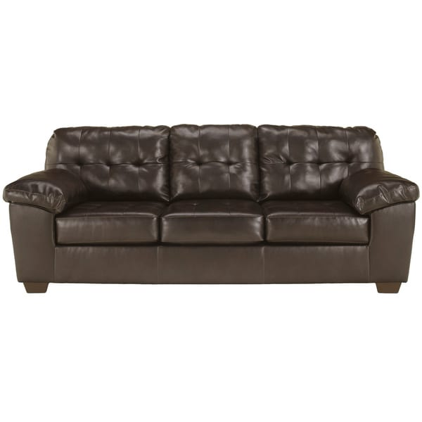 Chocolate Bonded Leather Sofa