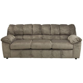 Signature design by ashley darcy microfiber sofa chaise for Ashley microfiber sectional with chaise