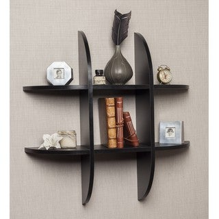 Danya B Tic Tac Toe Floating Black Shelf