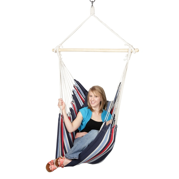 Blue Sky Outdoor Hammocks Hanging Chair with Two Cushions and FREE Hammock Straps