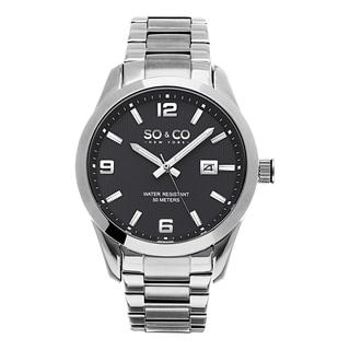 SO&CO New York Men's Madison Quartz Grey Dial Stainless Steel Watch