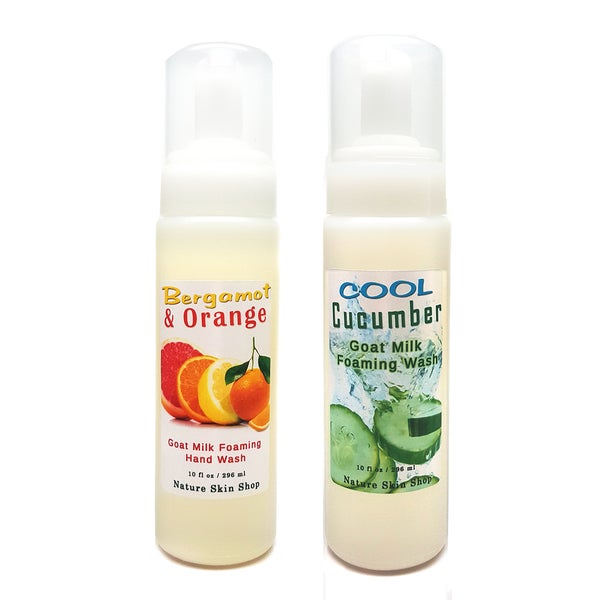 Cool Cucumber/ Bergamot and Orange Goat Milk Foaming Hand Wash (2 Bottles)