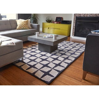 Magi Hand Tufted Grey and Natural Viscose and Jute Rug (9' x 12')