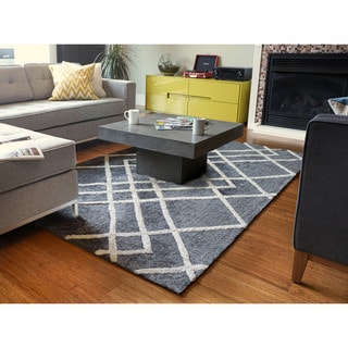 Jani Dia Grey Rayon from Bamboo Viscose Rug (9' x 12')