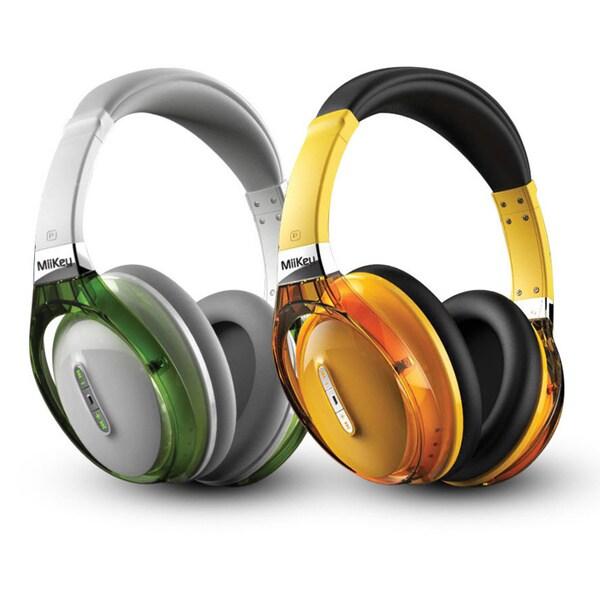 MiiKey Rhythm NFC Bluetooth Wireless HD Headphones with Microphone