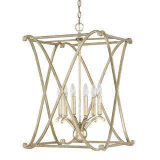Capital Lighting Donny Osmond Alexander Collection 6-light Winter Gold Foyer Fixture/ Chandelier